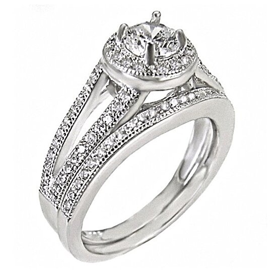 wedding ring settings buy 1 5ct russian on cz 2 pc split band 1000