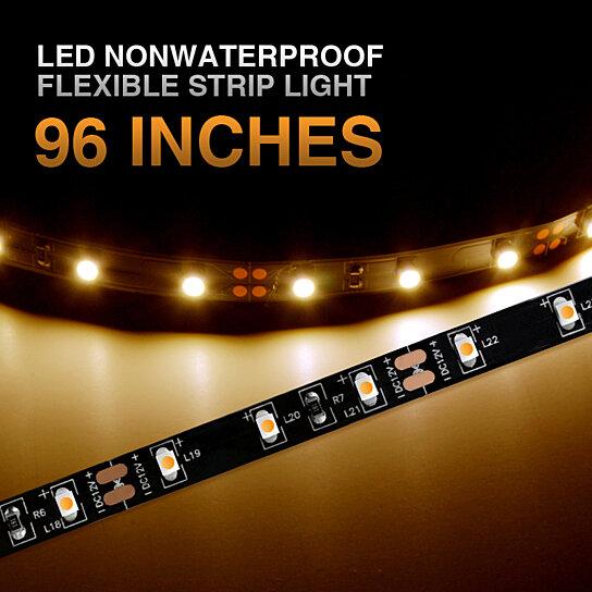 buy 12v led 96 nonwaterproof flexible strip light interior rv caravan trailer auto boat cabin. Black Bedroom Furniture Sets. Home Design Ideas