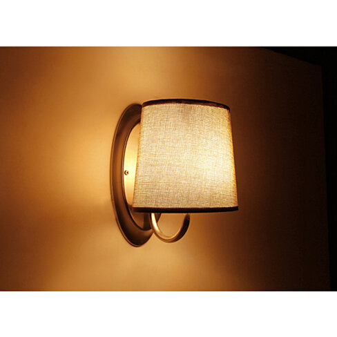 Caravan Interior Wall Lights : Buy 12V LED Brown Fabric Shade Wall Sconce RV Caravan Boat Interior Hall Bedroom Lobby Dining ...