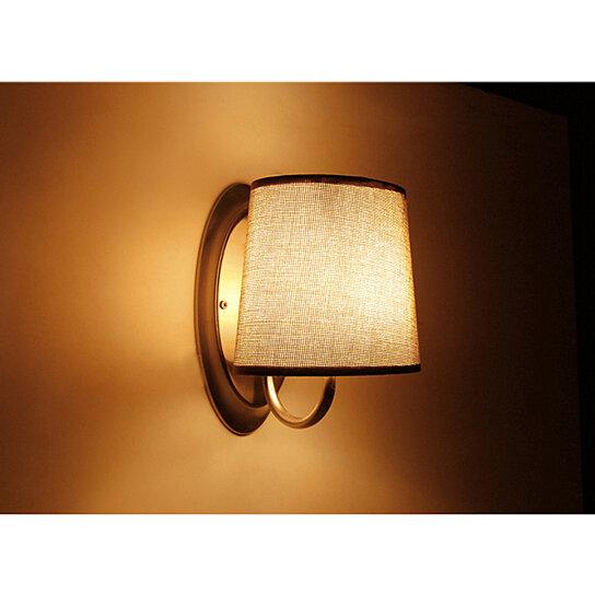 Buy 12v Led Brown Fabric Shade Wall Sconce Rv Caravan Boat Interior Hall Bedroom Lobby Dining