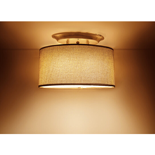 Buy 12V LED Classic Brown Fabric Shade Switched Dinette ...