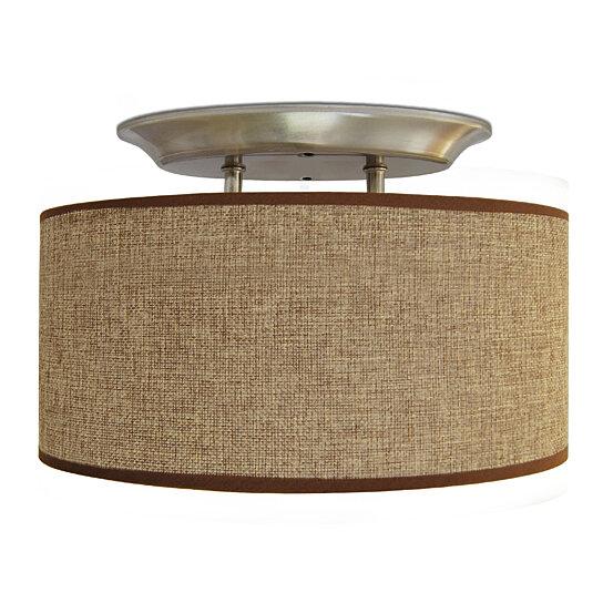 Buy LED 12V Brown Fabric Oval Dinette Ceiling Light For RV