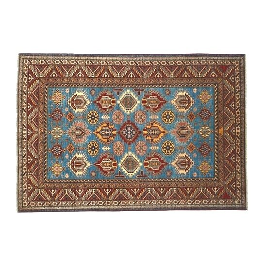 Buy Sky Blue Area Rug 100 Wool 6 39 X8 39 Hand Knotted High