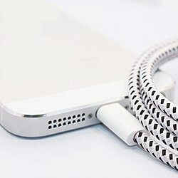 10FT Bungee Charging Cable For iPhone 5, 6 & 6 plus