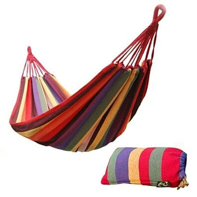 "75"" x 31"" Outdoor Canvas Travel Hammock"