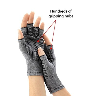 Arthritis Gloves Compression Grips Blood Circulation Cotton Lycra Breath