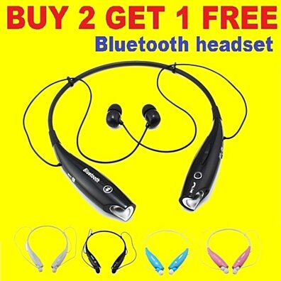Wireless Bluetooth Stereo Headset  headphone (Buy 2 & Get 1 Free)