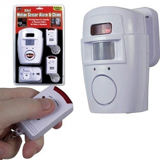 Buy Wireless Security Alarm Amp Chime Motion Sensor 2 In 1
