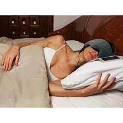 Sleep Headphones Eye Mask in Grey