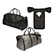 The Weekender Charging Garment Bag in black or grey