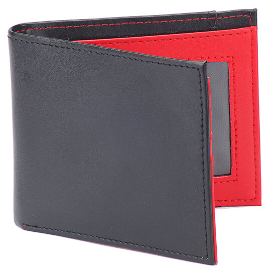 Buy 1 Voice The Vault Rfid Blocking 100 Leather Wallet In Black With Red Interior By 1voice On