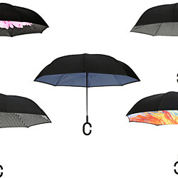 Windproof, Reverse Opening, Upside Down Umbrella - 10 designs