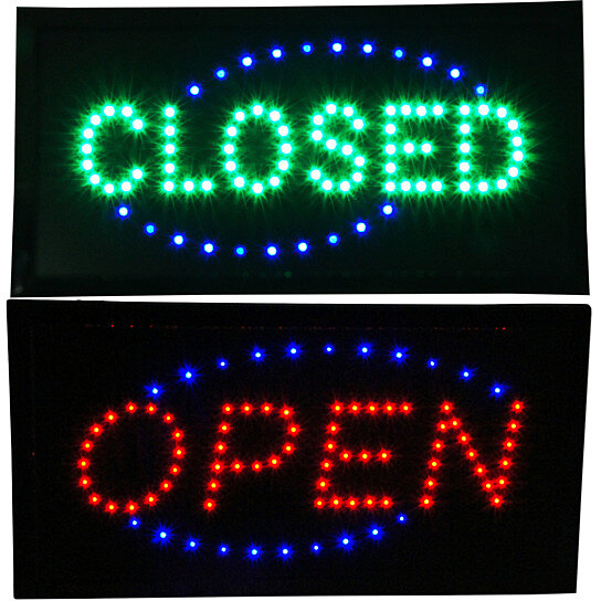 Buy Open Amp Closed LED Signs Store Neon Close Business Bar