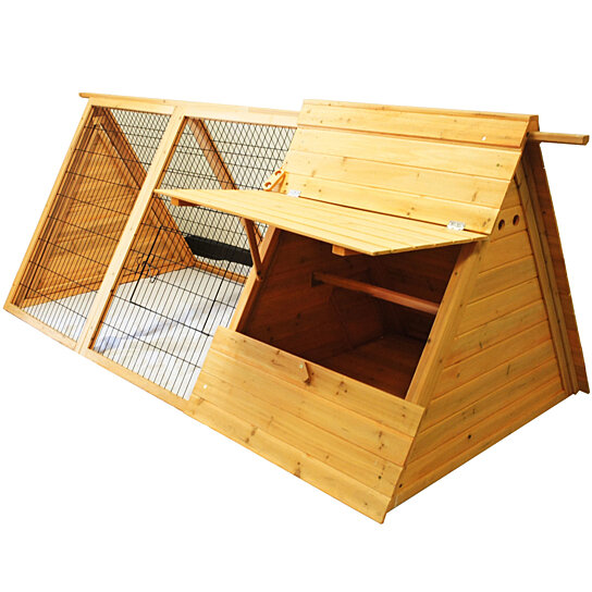 buy wooden portable triangle chicken coop hen house