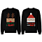 Angry Rudolph & Desperate Santa Matching Couple Sweatshirts (Set)
