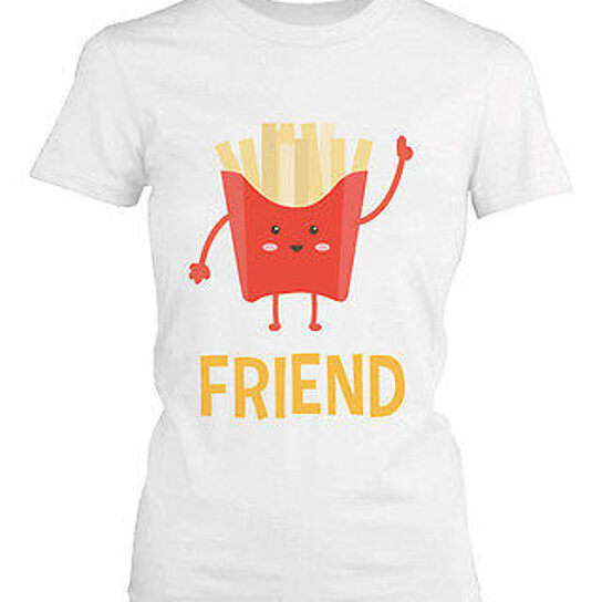 Burgers Fries T-Shirts from Spreadshirt Unique designs Easy 30 day return policy Shop Burgers Fries T-Shirts now! Together forever t-shirt. Funny burger and fries. by. Flexify. cute burger and French Fries who are bffs. by. RustyDoodle. New. Good Old Times - Pizza Fries .