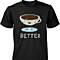 Coffee & Donut Better Together Matching Couple Shirts (his & hers Set)
