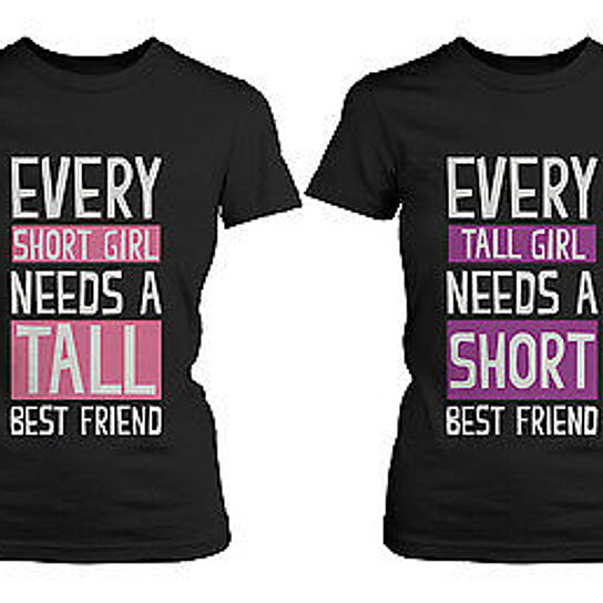 Buy Cute Best Friend Shirts Short And Tall Matching
