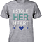 I Stole Her Heart, So I'm Stealing Heart Matching Couple Shirts in Grey (Set)