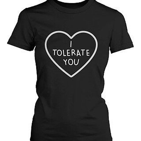 Buy i tolerate you women 39 s cute graphic shirts black short for Trendy t shirts for ladies