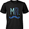 Mr. Blue Mustache & Mrs. Pink Lips Matching Couple Shirts (Set)