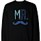 Mr. Blue Mustache & Mrs. Pink Lips Matching Couple Sweatshirts (Set)