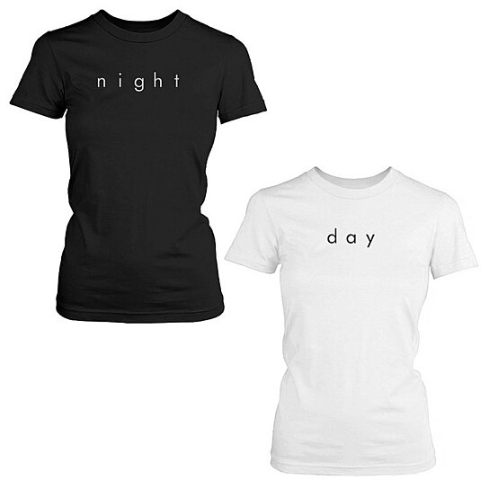 813392f1 to cart 90 times in the last 24 hours. Night and Day Cute BFF Shirt Set  Trendy Best Friends Black and White Matching Tee
