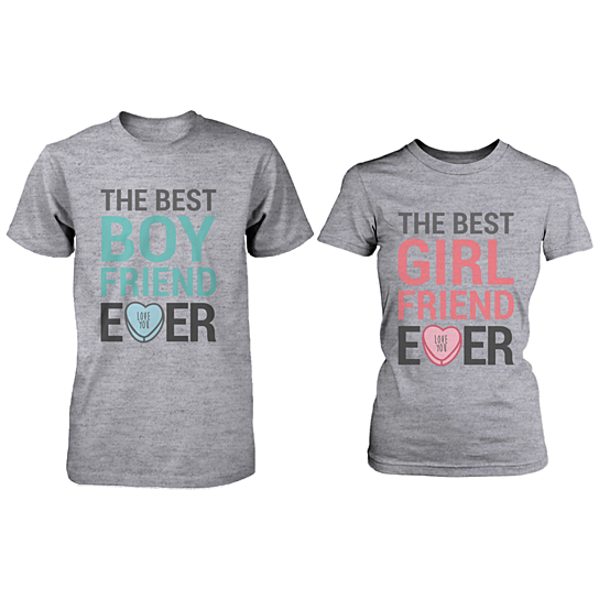 Buy the best boyfriend girlfriend ever matching couple for Best couple t shirt design