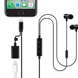 Apple Certified Earphones with Lightning Cable and Charge Port
