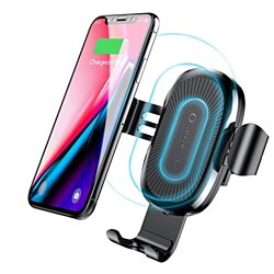 Baseus Qi Fast Wireless Car Charger Air Vent Phone Holder for iPhone & Samsung