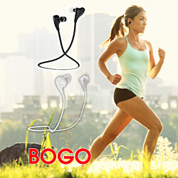 BOGO Wireless Bluetooth Sport Headset (Sweat-proof Design)- 3 Color Options