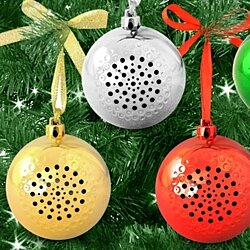 Jingle Ball Portable Bluetooth Christmas Ornament Speaker