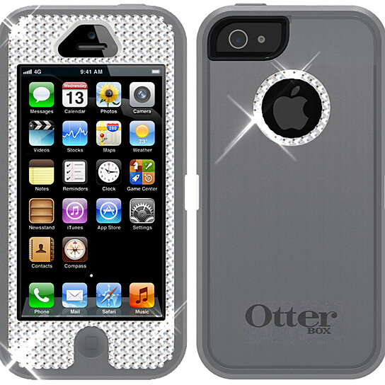 new concept 9eb80 780f8 Swarovski Crystal Otterbox Defender Case Cover for iPhone 5 with Belt Clip