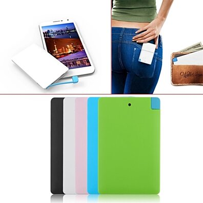 Ultra Thin Portable Power Credit Card Power Bank For iPhone & Samsung