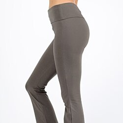 PREMIUM COTTON FOLD-OVER YOGA FLARE PANTS (AVAILABLE IN PLUS SIZE)