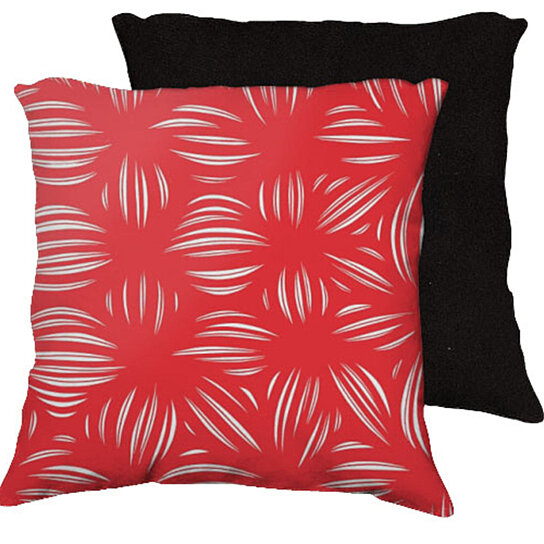 Buy Hagmaier 18x18 Red White Black Back Cushion Case Throw Pillow Cover 631 Art by 631 Art on ...