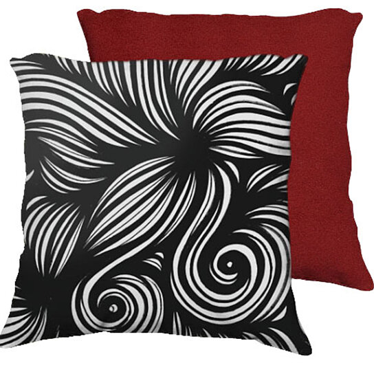 Red Black White Decorative Pillows : Buy Merrit 18X18 Black White Red Back Cushion Case Throw Pillow Cover 631 Art by 631 Art on OpenSky