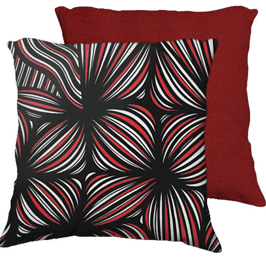 Buy Warpool 18X18 Red White Black Red Back Cushion Case Throw Pillow Cover 631 Art by 631 Art on ...