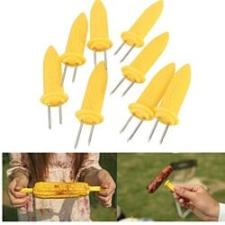 16 Jumbo Corn on the Cob Skewers/Holders