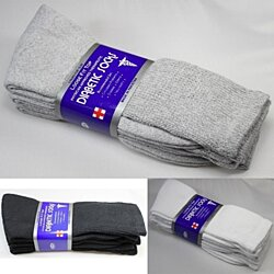 6 Pairs Diabetic Crew Circulatory Mens Cotton Socks