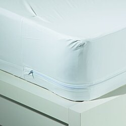New WaterProof Zippered Vinyl Mattress Cover Allergy Relief Bed Bug ALL SIZES