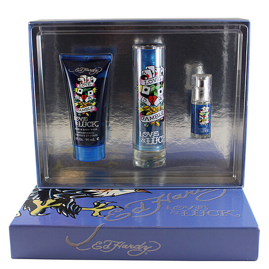 Love Luck Perfume For Women By Christian Audigier: Buy ED HARDY LOVE & LUCK LOVE IS A GAMBLE By Christian Audigier For Men 3 PC. GIFT SET ( EDT