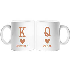 King and Queen Personalized 11 oz White Coffee Mug