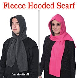 NEW Fleece Hooded Scarf Warm & Comfortable One Size Fits Most Two Pack
