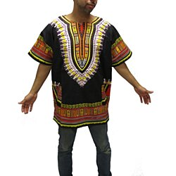 Traditional Thailand Style Dashiki Shirt black Combination Colors