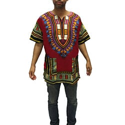 Traditional Thailand Style Dashiki Shirt in Several Color Combinations