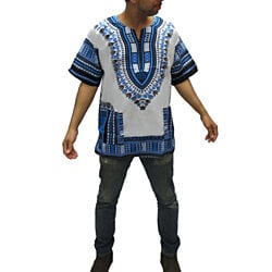 Traditional Thailand Style Dashiki Shirt White Combination Colors