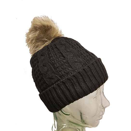 Buy Winter Hand Knit Faux Fur Pompoms Beanie Hat Men Or Women by ABC  CLOTHING on OpenSky 7406e348d71
