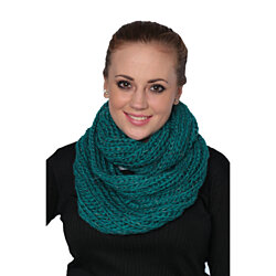 Women's scarf Very Soft Cable-Knit Glitter Infinity Shawl