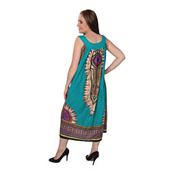 Women's Dashiki Dress Loose-Fit Embroidered Beach Cover up Fit S-XXL
